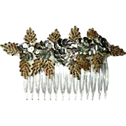 Beaded & Sequined Hair Comb, 70's Vintage