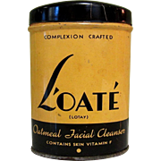 Art Deco Tin, Vintage L'oate Cleanser