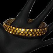 Celluloid Rhinestone Bracelet, 1920's Deco