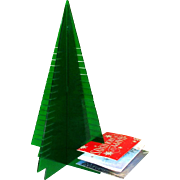 Lucite Christmas Tree, Card Holder / Display, 1960's
