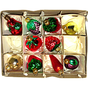 Vintage Mercury Glass Vegetable Christmas Tree Ornaments West Germany