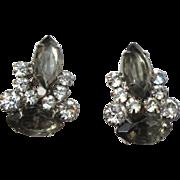 Juliana Rhinestone Earrings, D & E, Vintage