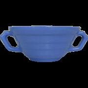Moderntone Cream Soup Bowls, Blue Double Handled, Blue