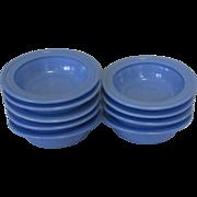 Moderntone Platonite berry bowl, Hazel-Atlas Glass Blue