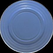 Moderntone Platonite Dinner Plate, 1940's Blue, Art Deco