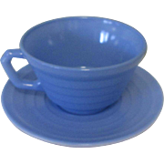 Moderntone Platonite Coffee Cup, Hazel-Atlas Glass Blue