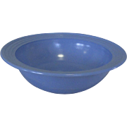 Moderntone Platonite Serving Bowl, Blue Vintage Deco