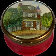 Battersea Bilston English Enamel Box 1776 Betsy Ross