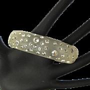 Vintage Rhinestone Bracelet, Lucite Hinged Clamper, 1950's