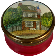 Battersea Bilston English Enamel Box 1776 Betsy Ross