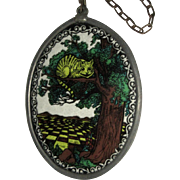 Vintage Sun Catcher, Cheshire Cat in a Tree