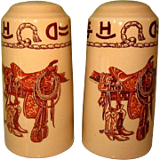 Wallace China, Boots & Saddle Salt & Pepper Shakers