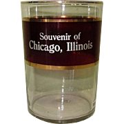 Ruby Flash Glass, Vintage Chicago Souvenir