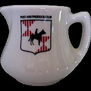 Restaurant Cream Pitcher, Post & Paddock Club, Horse