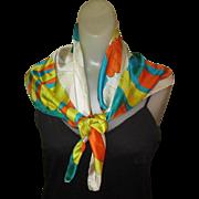 Chereskin Scarf, Vintage 1970's Silk Mod