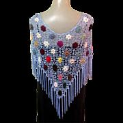 Lace Shawl / Poncho, Vintage 90's Floral