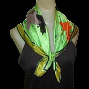 Silk Scarf, Vintage Autumn Leaves