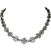 Deco Crystal Bead Necklace, Vintage 1920's