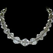 Deco Crystal Bead Necklace, Vintage 1920's