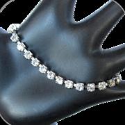 Coro Rhinestone Bracelet, Art Deco Vintage Crystal Link