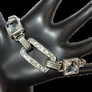 Deco Rhinestone Bracelet, Crystals, 1930's