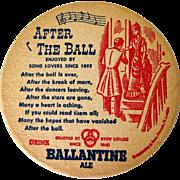 1950's Beer Coasters, Ballentine Ale, Set of Six