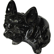Czech Glass Bull Dog Paperweight, Vintage 1920's