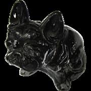Czech Glass Bull Dog Paperweight, Vintage 1920's