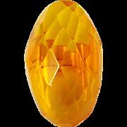 Bakelite Ring, Faceted Apple Juice Vintage Deco