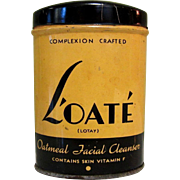 Art Deco Tin, Vintage L'oate Cleanser