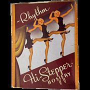 Vintage Jeweled Stockings, Black Seams Art Deco Box