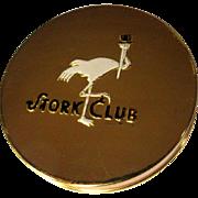 Vintage Stork Club Compact, 40's Deco, NOS