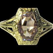 Ostby Barton Edwardian Ring, Amethyst, WG, 10K