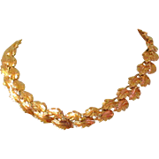 Oak Leaf Necklace, Vintage Napier, Gold Plated
