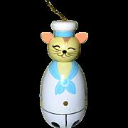 Mouse Figural, Vintage Hand Made Sailor Ornament