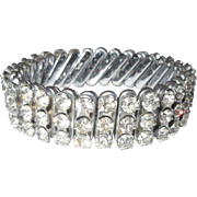 Vintage Rhinestone Bracelet, 1940's Expansion