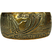Chicago Worlds Fair Bracelet, 1934 Vintage Cuff