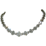 Crystal Necklace, Faceted Beads, GF Filigree Clasp, 1920's