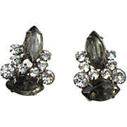 Juliana Rhinestone Earrings, D & E, Vintage '60's