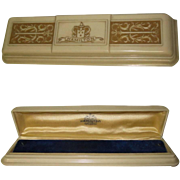 Lady Hamilton Watch Box, Vintage 40's, Art Deco Celluloid