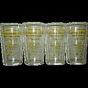 Vintage Beer Store Glasses, Wisconsin Baseball