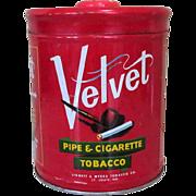 Velvet Humidor Pipe & Cigarette Tobacco Tin