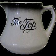 Vintage Cream Pitcher, Restaurant Ware, The Top Steakhouse