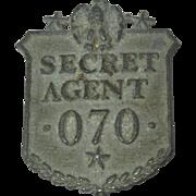 Vintage Secret Agent Badge, 1930's or 40's