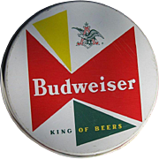 Vintage Budweiser Tray - So Atomic 1950's Beer