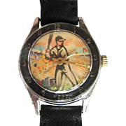 Vintage Flicker Watch, Baseball Dial, Swiss Character