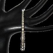 Vintage Rhinestone Bracelet, Deco Square Cut Crystals