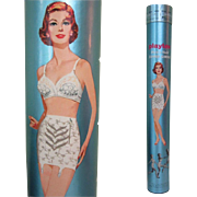 Playtex Girdle Tube / Box, Vintage Display, 1950's 60's