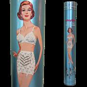 Playtex Girdle Tube / Box, Vintage Display, 1950's 60's