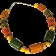 Bakelite Crib Toy Necklace,  Vintage 1940's